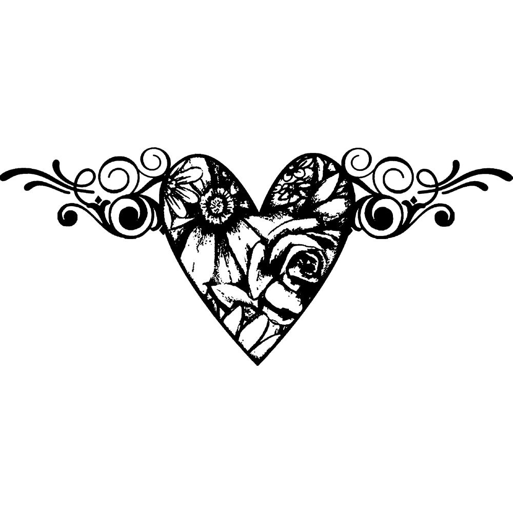Suzanne Carillo ''LOVE IN BLOOM'' mounted rubber stamp