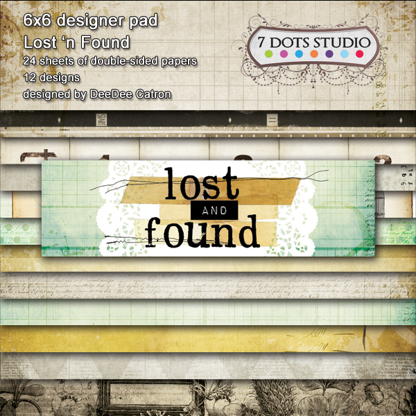 7 DOTS STUDIO Lost and Found ''Designed Pad 6x6''