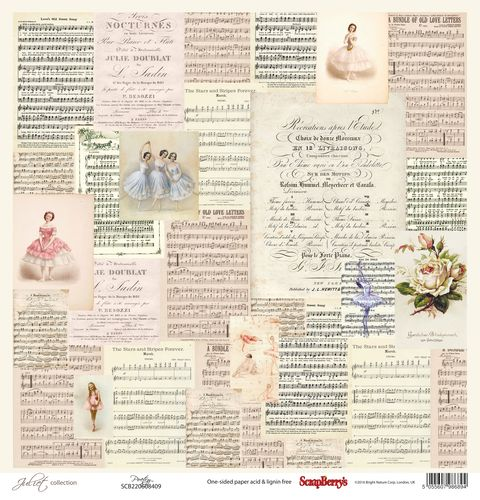 Scrapberry's Juliet POETRY 30x30