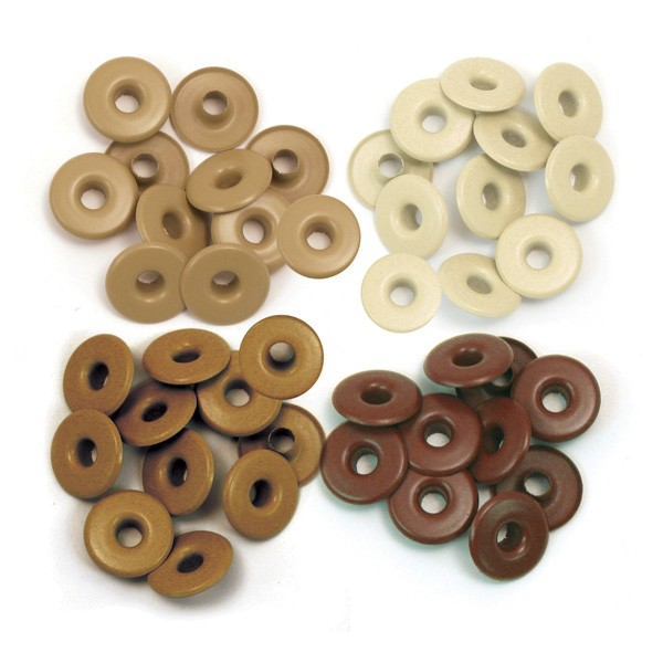 Wide eyelets - Brown