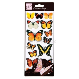 Dimensions Wings - stickers Yellow