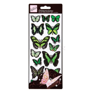 Dimensions Wings - stickers Green