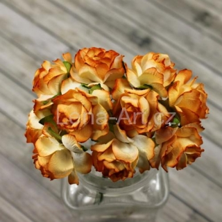 Puffy Paper Roses - tangerine