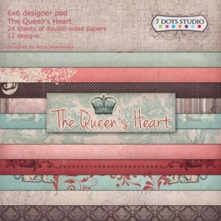 7 DOTS STUDIO - The Queen's Heart - kompletní sada 6x6