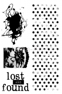 7 DOTS STUDIO Lost and Found ''Clear Stamps''