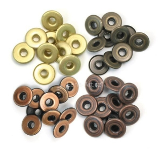 Eyelets Wide - Warm Metal 3/16''