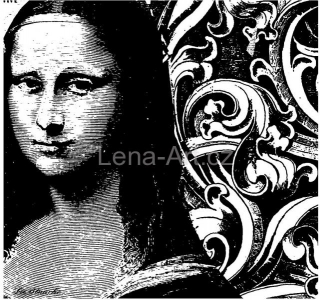 La Blanche ''MONA LISA COLLAGE''